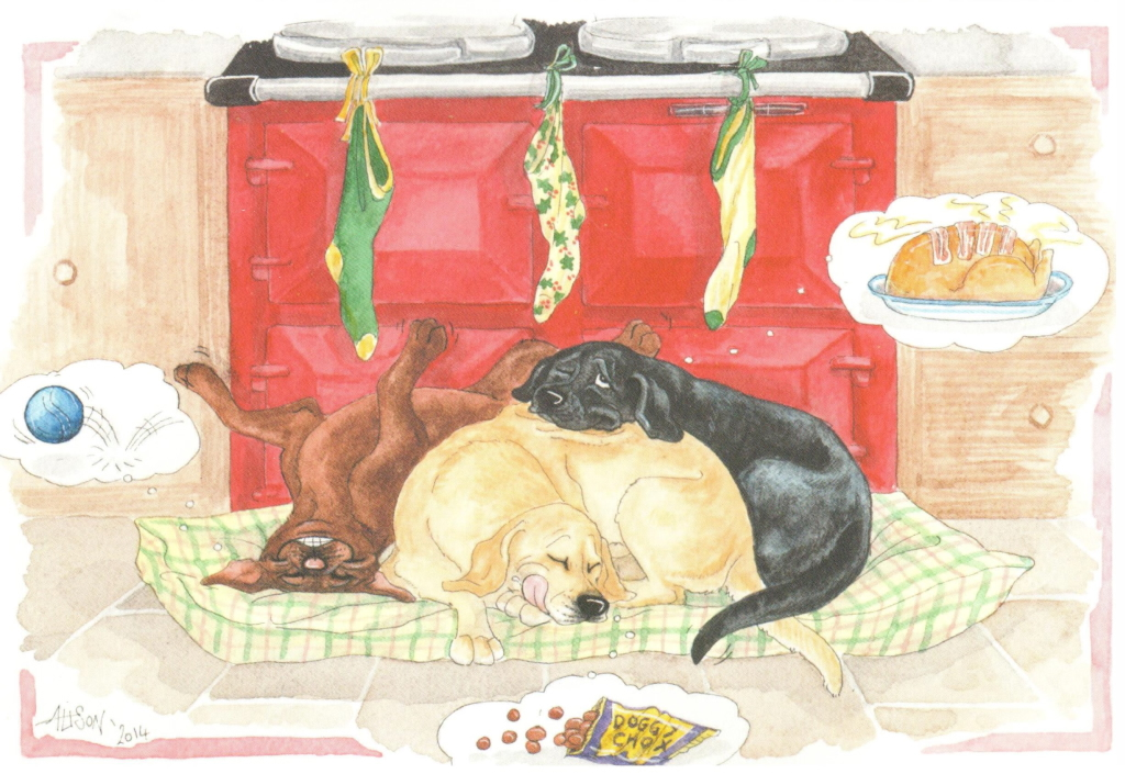 Labrador Christmas Cards - Dreams - The Labrador Lifeline Trust